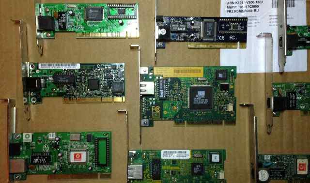 Сетевые карты PCI 100 Mbit LAN 3Com, Intel, Compex