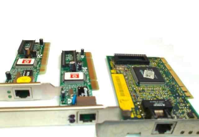 Сетевые карты PCI Ethernet, 3 шт