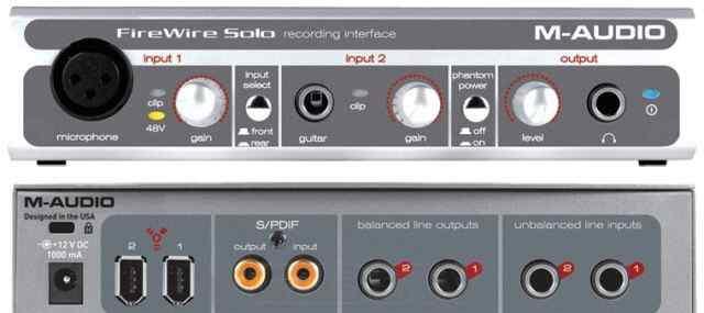 Внешняя карта m-audio FireWire solo