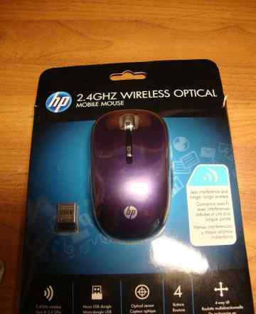 Мышь беспроводная HP 2.4GHz Wireless Optical Mouse