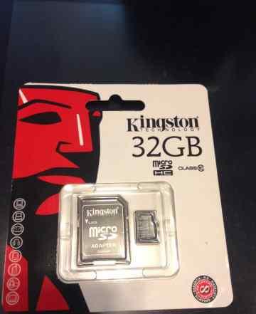 Карта памяти Kingston MicroSD 32 Gb