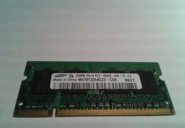 256MB 200p PC2-4200 CL4 4c 32x16 DDR2-533 sodimm