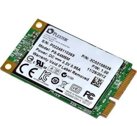 SSD 64гб, msata, SATA III, Plextor M5M, PX-64M5M