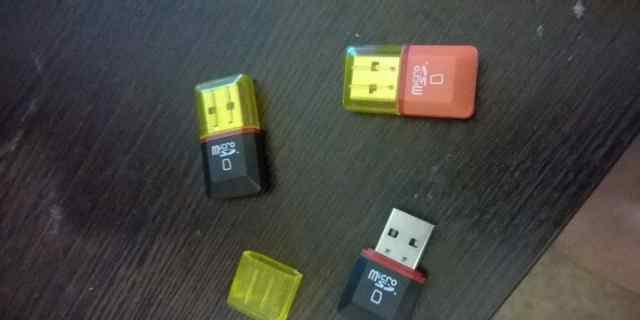 USB-адаптер для MicroSD карт. Ридер