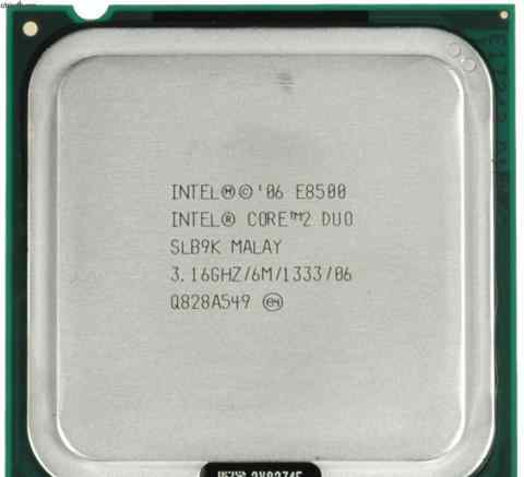 Intel Core 2 Duo E8500 3160MHz LGA 775