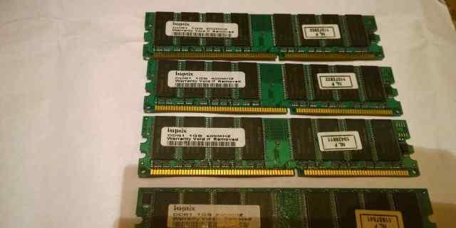 DDR1 hynix планки по 1 Гб