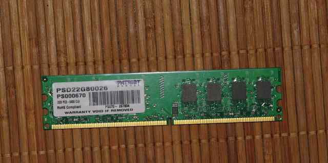 Модуль памяти dimm DDR2, 2гб, Patriot PSD22G80026