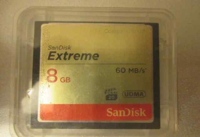 Sandisk Extreme CompactFlash 8 GB 60 MB/S 20 udma
