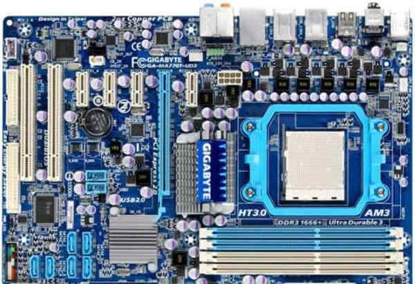 Мат плата gigabyte GA-MA770T-UD3 Socket AM3
