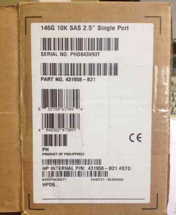 Жесткий диск HP 146GB 10K SAS 2.5