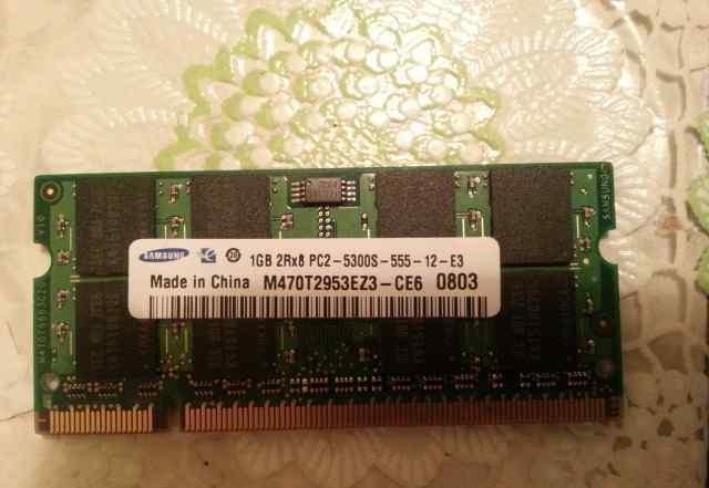 Sodimm DDR2 1 Gb 2Rх8 samsung 1шт