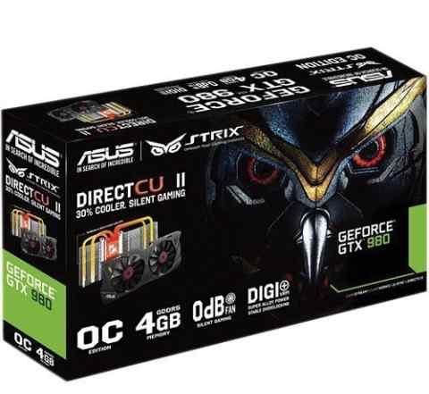 Asus NVidia GeForce GTX 980 новые-гарантия