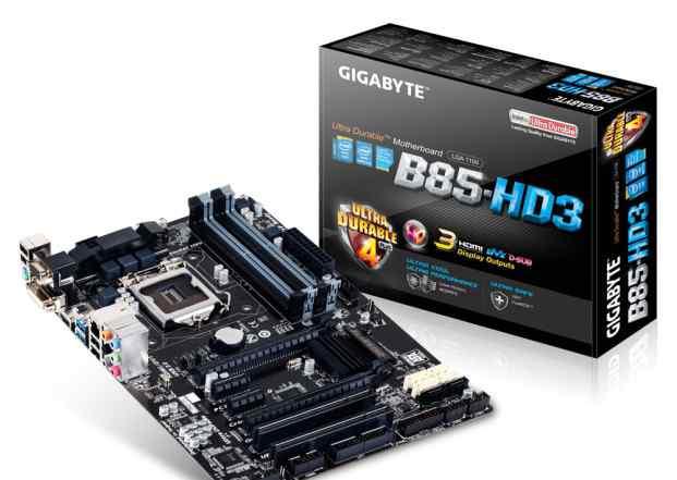 Gigabyte GA-B85-HD3 в отличном состоянии на гарант