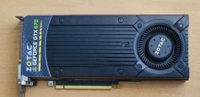 Неисправная Zotac GeForce GTX 670 2GB