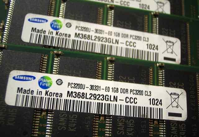 Оперативная память Samsung PC3200U-30331-E0 1gb