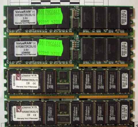 Оперативная память Kingston KVR266X72RC25L/1G 2.5V