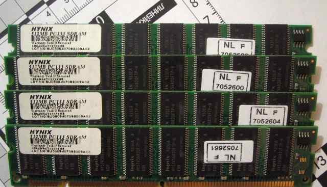 Память Hynix 512mb PC133 sdram 8 планок