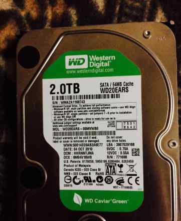 Жесткий диск Western Digital Caviar Green 2Tb