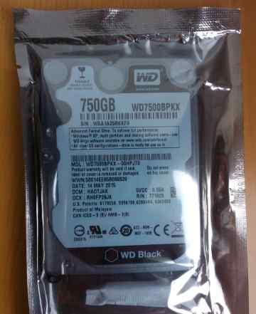 750Gb 2.5 Western Digital Black Новый для ноутбука