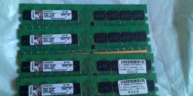 Оперативная память DDR2 1gb Kingston KVR533D2N4K2