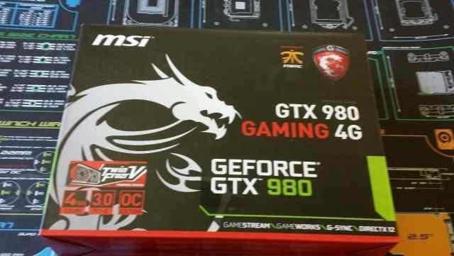 MSI Geforce GTX 980 новые в наличии