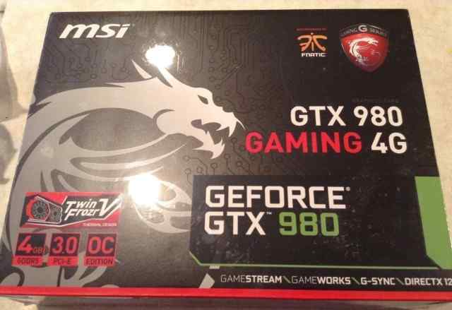 MSI Geforce GTX 980 есть документы и гарантия