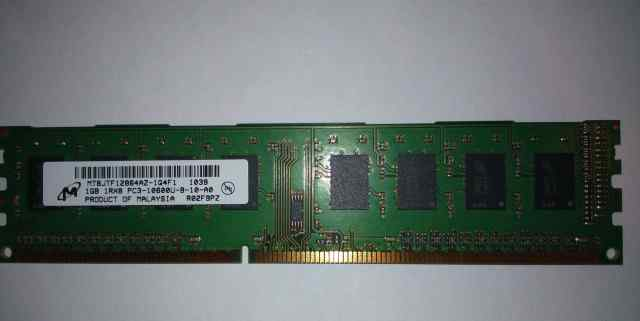 Оперативная память Micron 1 Gb DDR3 1333