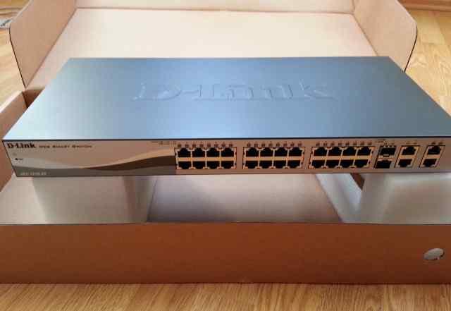 Новый коммутатор D-link DES-1210-28 2 уровня