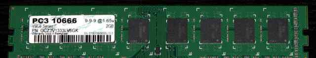 OCZ dimm DDR3-1333 (PC3-10666), 2 GB