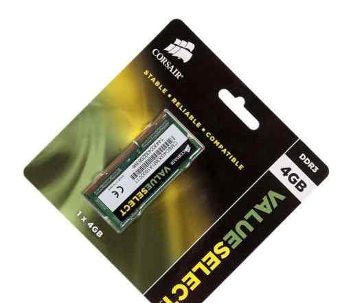 Память для ноутбука SO-dimm DDR3, 4 Гб, 1600 мгц