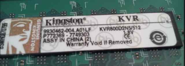 Память Kingston DDR2 512 mb, kvr800d2n5 + hynix
