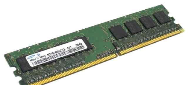 2 модуля памяти 1gb DDR2 PC2-6400 Samsung + Hynix