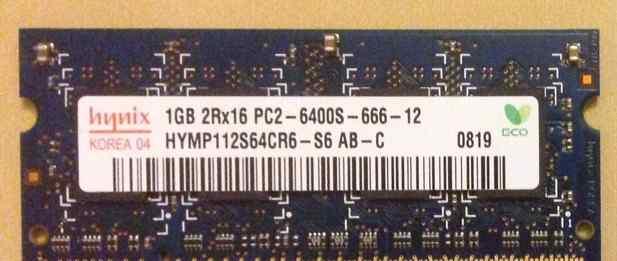 Hynix DDR2 SO-dimm 1 GB 6400 800 MHz
