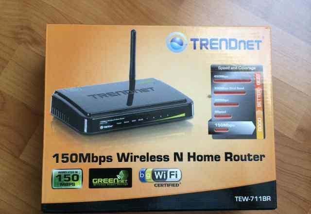Новый Wi-Fi роутер Trendnet TEW-711BR