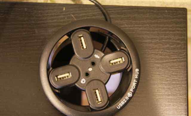 Разветвитель USB HUB 2.0 + микрофон + наушники