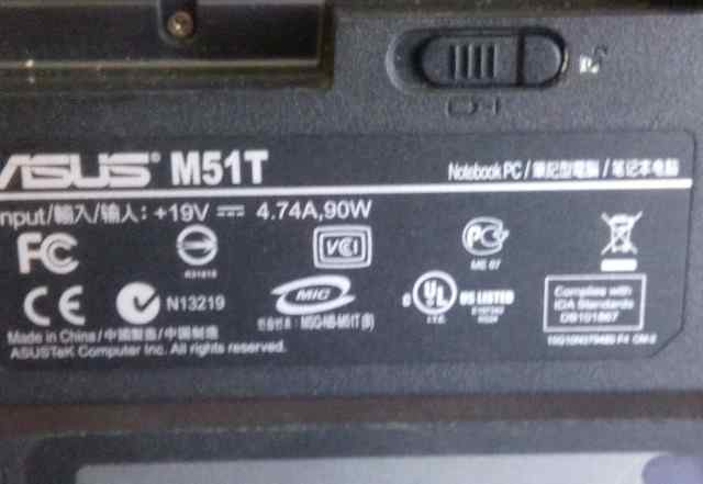 Asus M51T на разбор