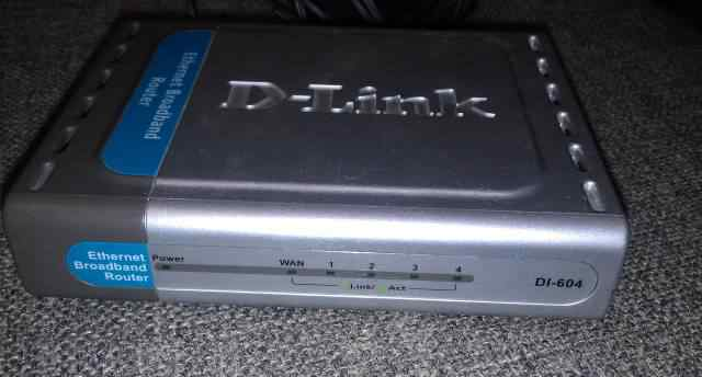 Mаршрутизатор (hub, router) D-Link DI-604