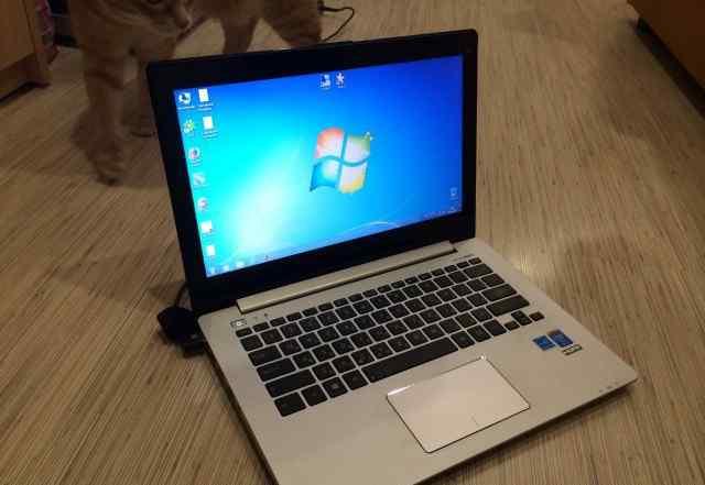 Сенсорный ultrabook asus i3-4010u/4gb/HD 8530