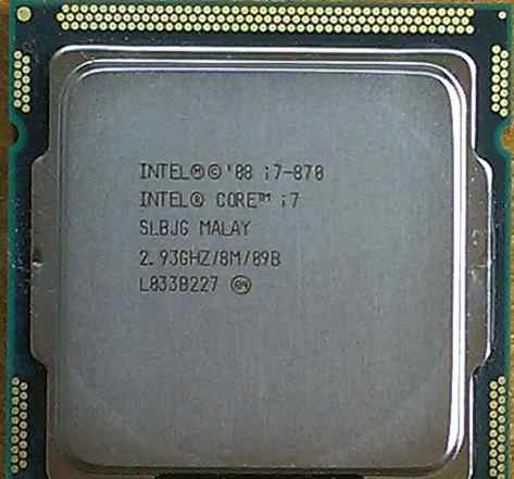 Процессор Intel Core i7-870, 2.9/3.6 GHZ, LGA1156
