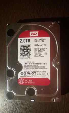 Жесткий диск WD Red WD20efrx 2TB на гарантии