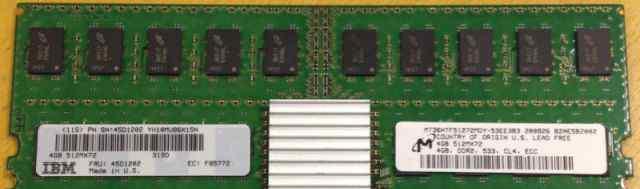 Оперативная память 4GB DDR2 CL4 ECC REG