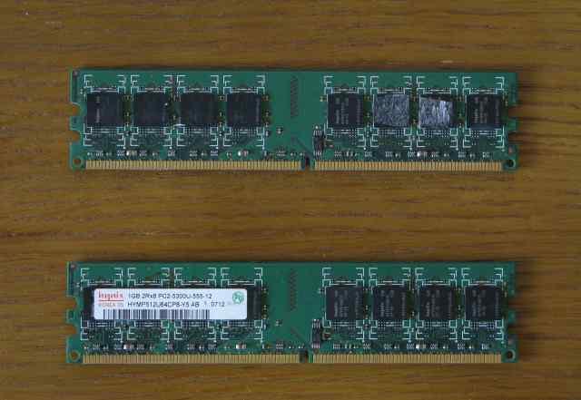 Оперативная память Hynix 1GB DDR-II, 2 плашки