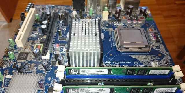 Материнская плата, оперативная память, процессор