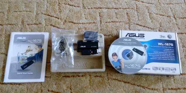 Wi-Fi адаптер Asus WL-167G USB 2.0