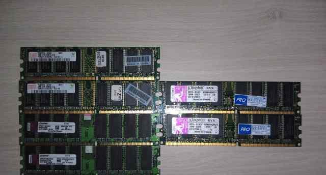 DDR PC3200 модули по 1Gb
