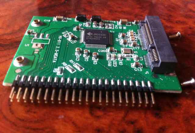 Переходник msata (3.3V) на IDE (44 Pin)