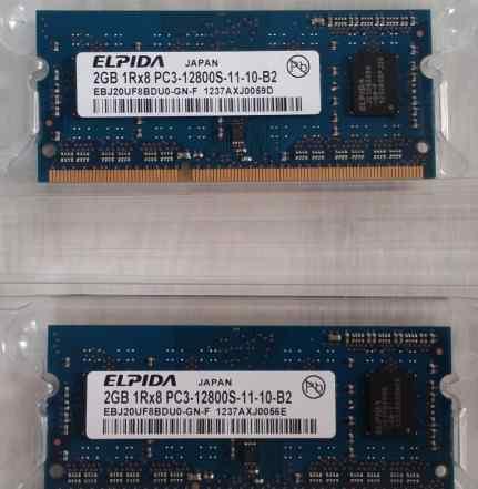 Sodimm DDR3 2x2GB Elpida от Mac mini 2012 late