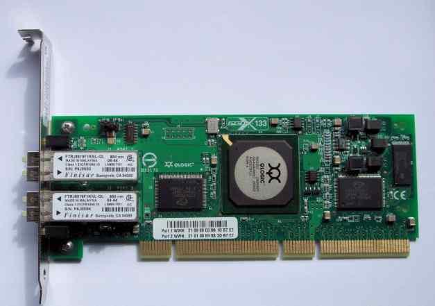 Контроллер Qlogic 2Gb/s FC Dual Port QLA2342