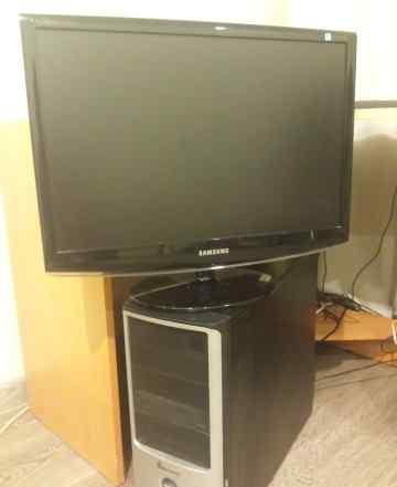 Компьютер 2.3ггц + монитор 22 дюйма