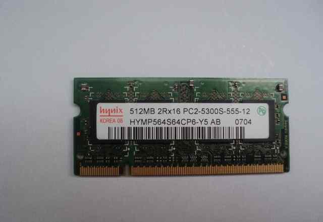 Sodimm Hynix 512Mb PC2-5300
